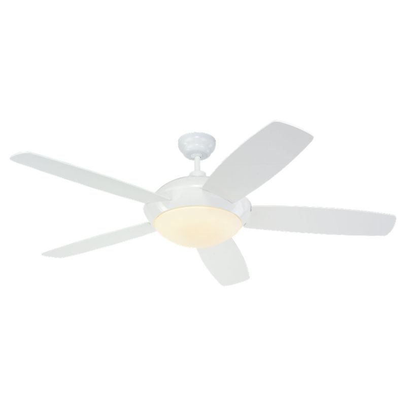 "Monte Carlo Sleek Five Bladed 52"" Indoor Ceiling Fan with Included"