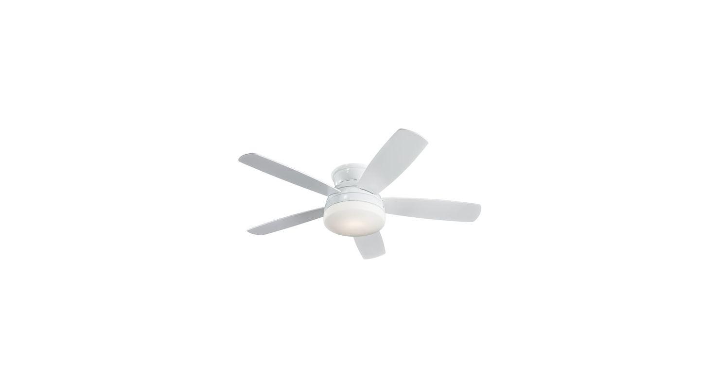 "Monte Carlo Traverse 52"" Semi-Flush Indoor Ceiling Fan White / Matte"