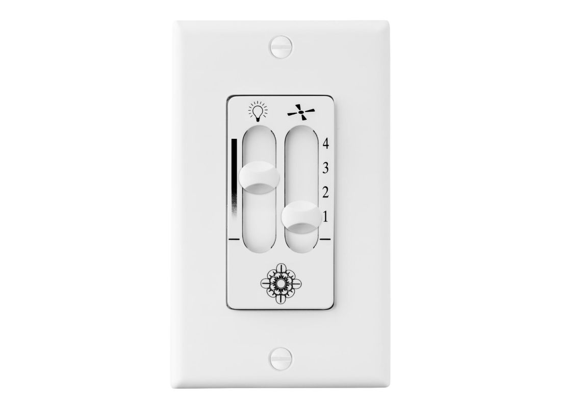 Monte Carlo ESSWC-6 4 Speed Dimmer Wall Control White Ceiling Fan