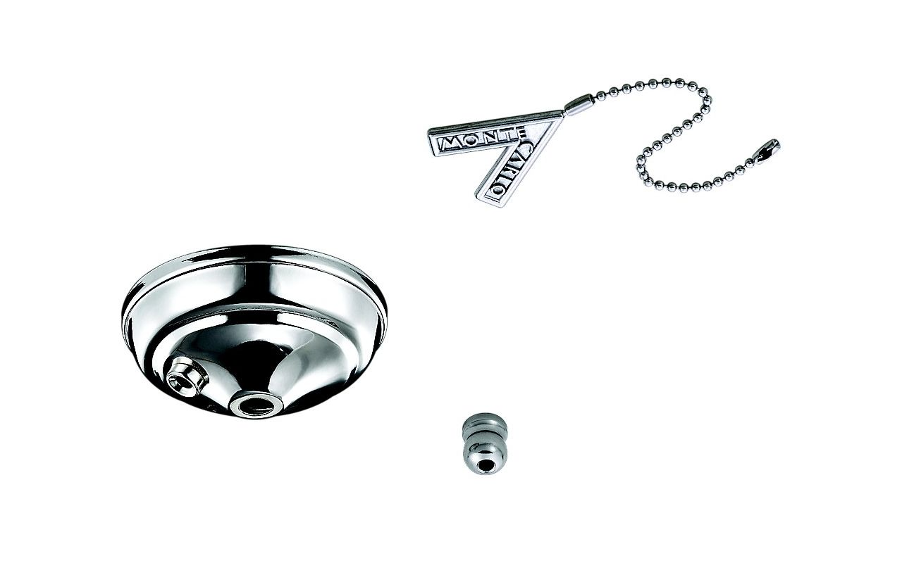 Monte Carlo MC83 Pull Chain Bowl Cap Kit Polished Nickel Ceiling Fan