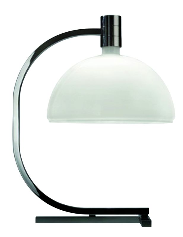 """Nemo AS1C 15 Single Light 25"""" Tall Desk Lamp with Opal Glass Diffuser"""