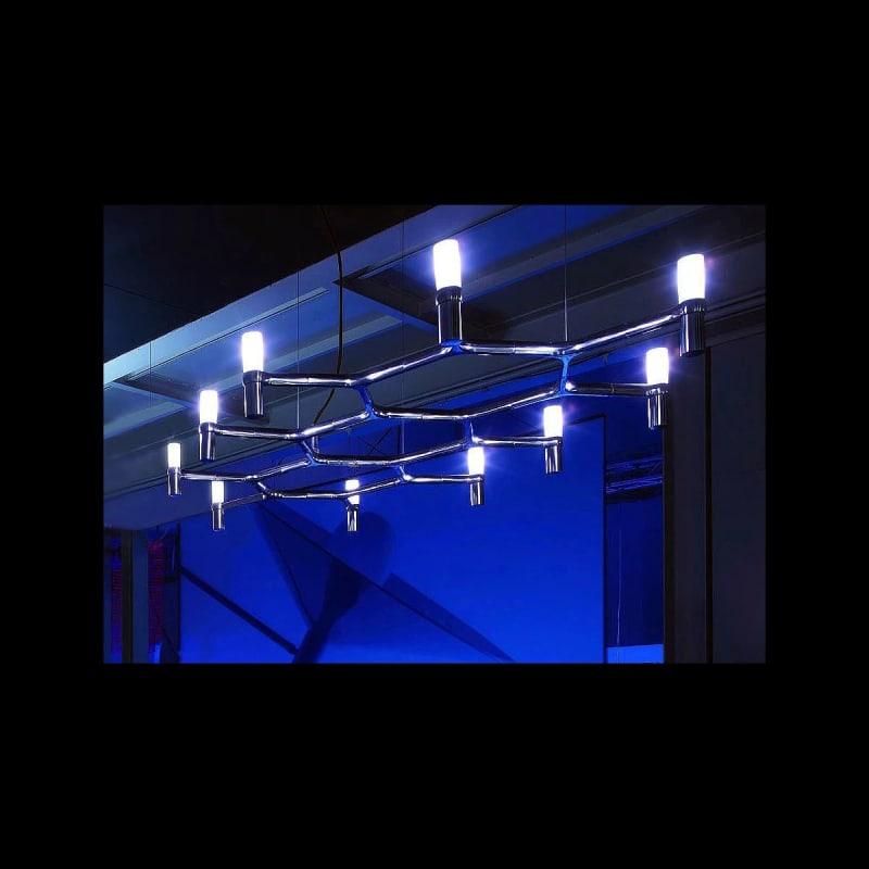 "Nemo Crown Plana 56 10 Light 56"" Wide Chandelier with Sandblasted Sale $2422.00 ITEM#: 2960145 MODEL# :CRO HLW 56 :"