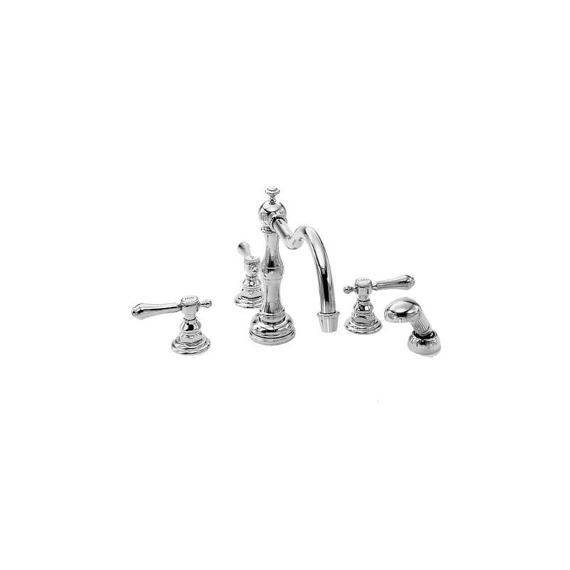 Newport Brass 3-1037 Chesterfield Triple Handle Roman Tub Faucet with