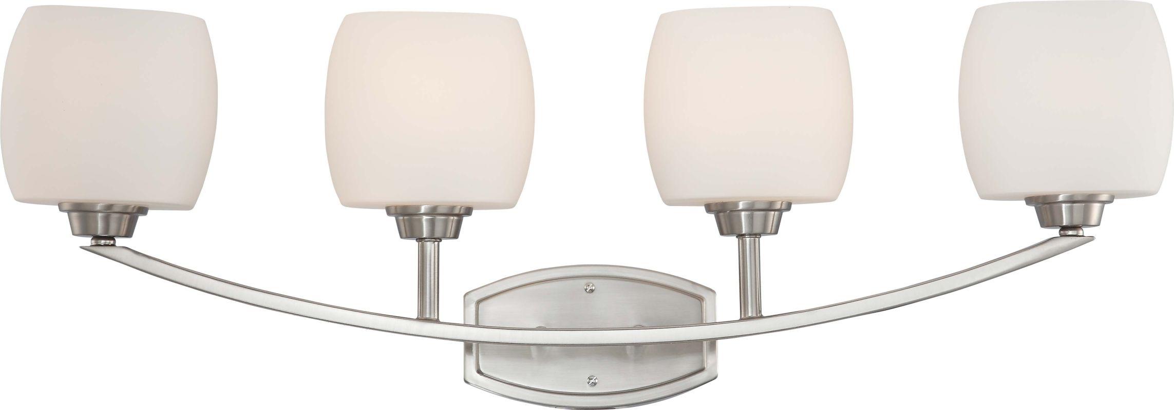 Shop Progress Lighting 4 Light Calven Brushed Nickel: 60/4184 In Brushed Nickel By Nuvo