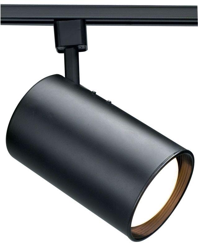 Nuvo Lighting TH203 Black Track Lighting Single Light R30 Straight Cylinder Track Head in Black Finish