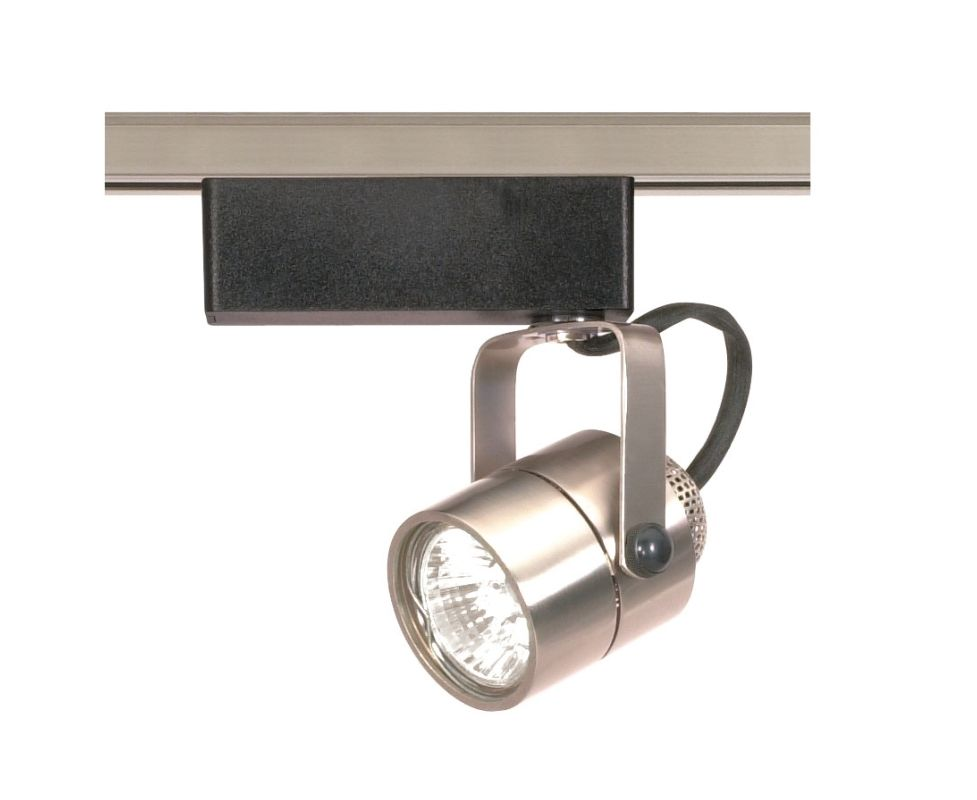 Nuvo Lighting TH309 Brushed Nickel Track Lighting Single Light MR16 12V Round Track Head in Brushed Nickel Finish