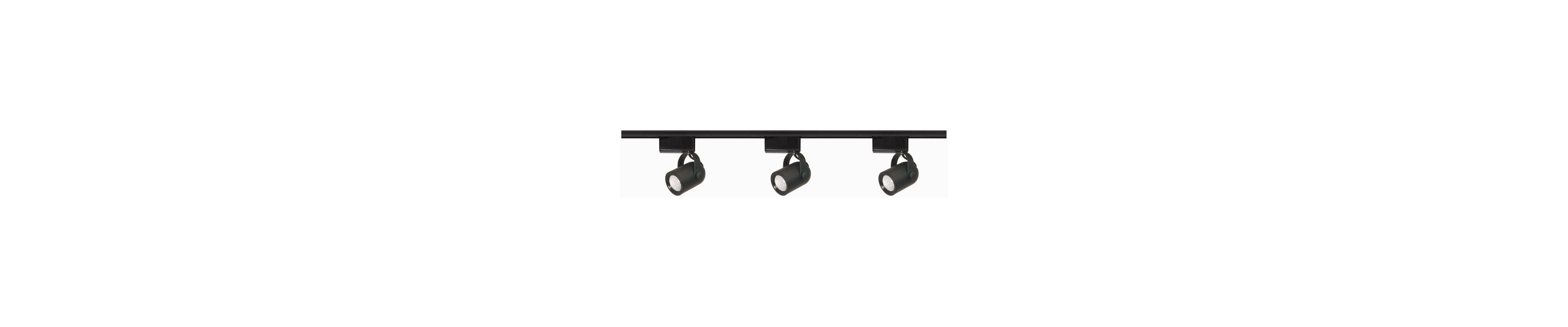 Nuvo Lighting TK313 Black Track Lighting Three Light MR16 Round Back Low Voltage Track Kit in Black Finish