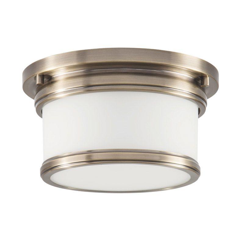 "Park Harbor PHFL4031 10"" Wide Single Light Flush Mount Ceiling Fixture Sale $98.05 ITEM#: 2852765 MODEL# :PHFL4031AB UPC#: 781889294260 :"
