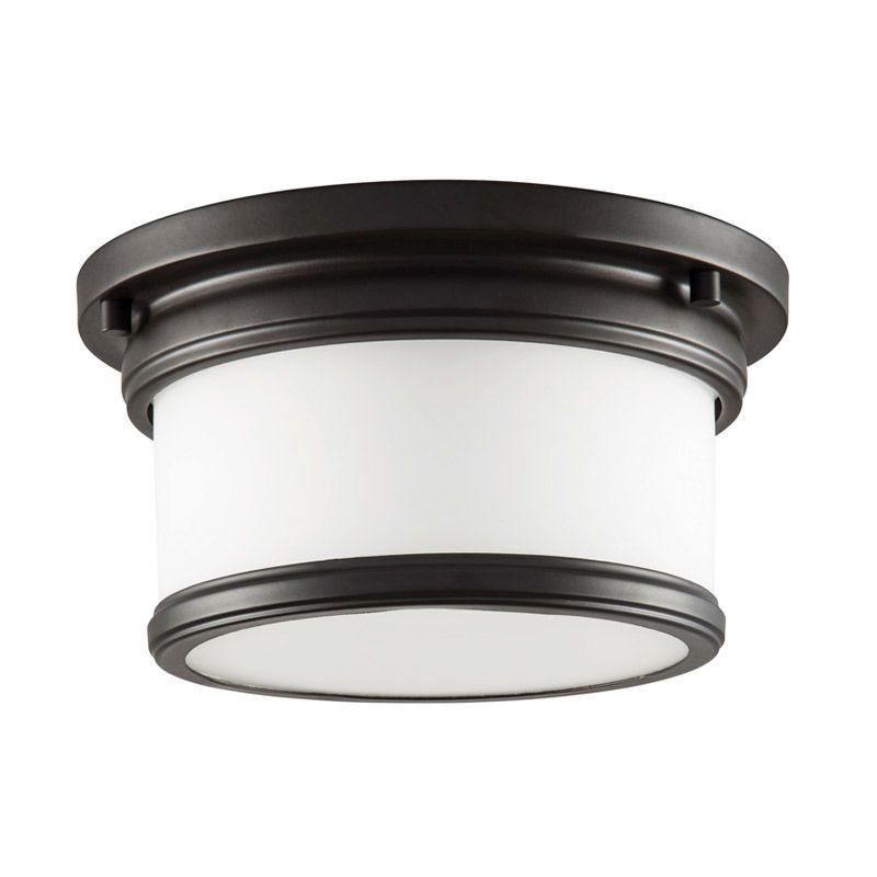 "Park Harbor PHFL4031 10"" Wide Single Light Flush Mount Ceiling Fixture Sale $92.05 ITEM#: 2852553 MODEL# :PHFL4031ORB UPC#: 781889296578 :"