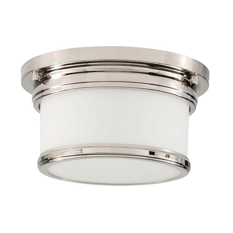 "Park Harbor PHFL4031 10"" Wide Single Light Flush Mount Ceiling Fixture Sale $100.05 ITEM#: 2852392 MODEL# :PHFL4031PN UPC#: 781889294277 :"