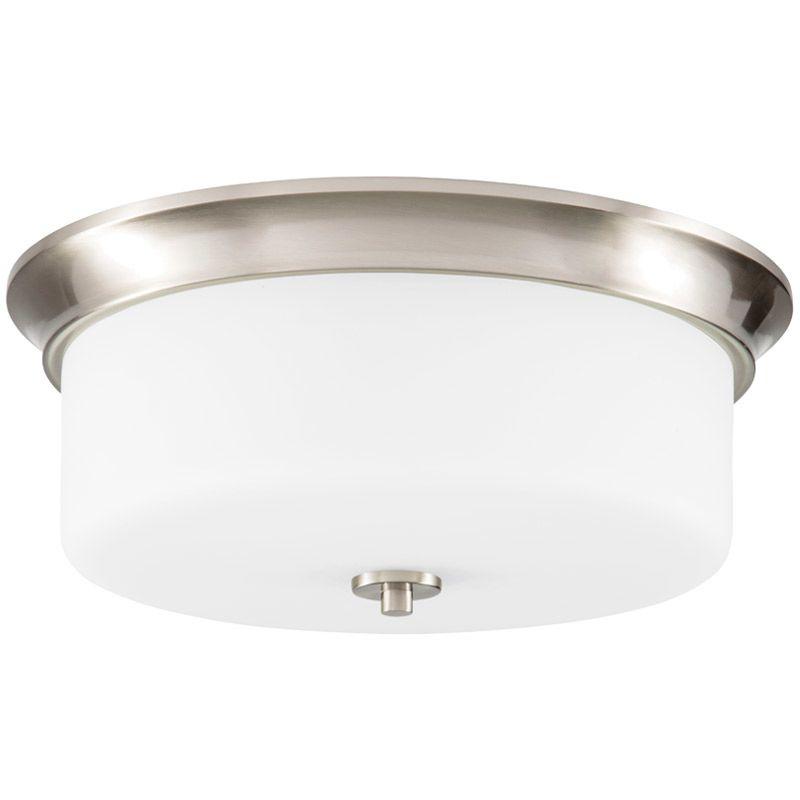 "Park Harbor PHFL4042 15"" Wide 3 Light Flush Mount Ceiling Fixture Sale $100.05 ITEM#: 2852714 MODEL# :PHFL4042BN UPC#: 781889294680 :"