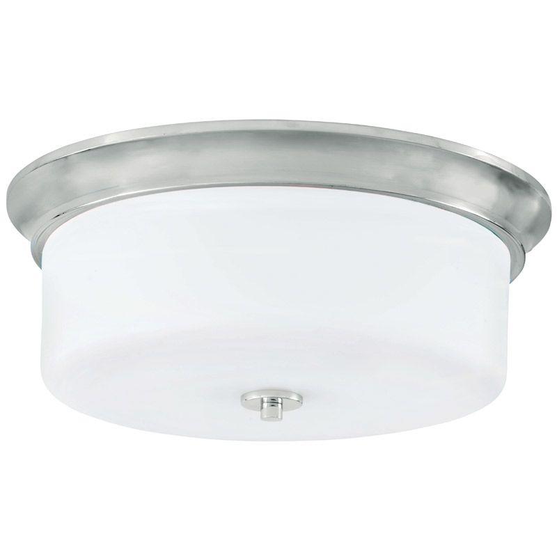 "Park Harbor PHFL4042 15"" Wide 3 Light Flush Mount Ceiling Fixture Sale $102.05 ITEM#: 2852449 MODEL# :PHFL4042PC UPC#: 781889294697 :"