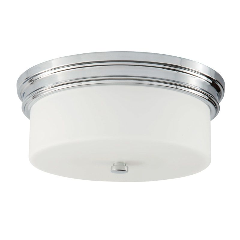 "Park Harbor PHFL4062 14"" Wide 2 Light Flush Mount Ceiling Fixture Sale $106.05 ITEM#: 2852503 MODEL# :PHFL4062PC UPC#: 781889294727 :"