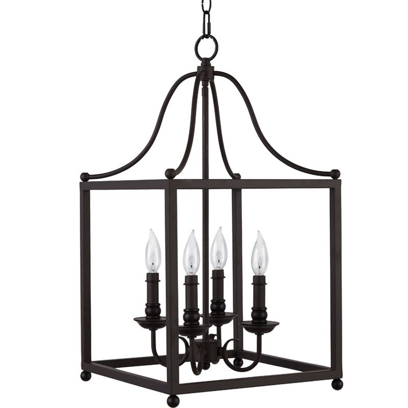 "Park Harbor PHPL5324 14"" Wide 4 Light Foyer Pendant with Lantern Style"