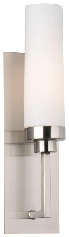 Philips FM0013836 Nicole 1 Light Wall Sconce Satin Nickel Indoor