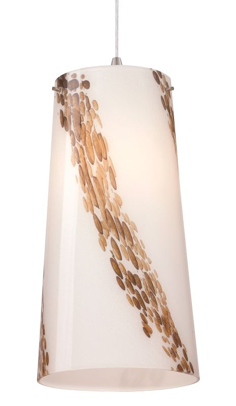 "Philips FQ0065031 Piave 8"" X 16"" White Art Glass Shade with Espresso"