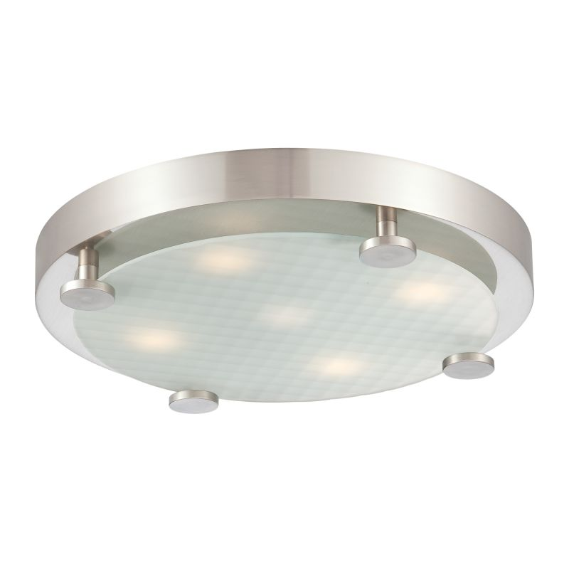 Philips 190142217 Flush 5 Light LED Flushmount Ceiling Fixture Brushed