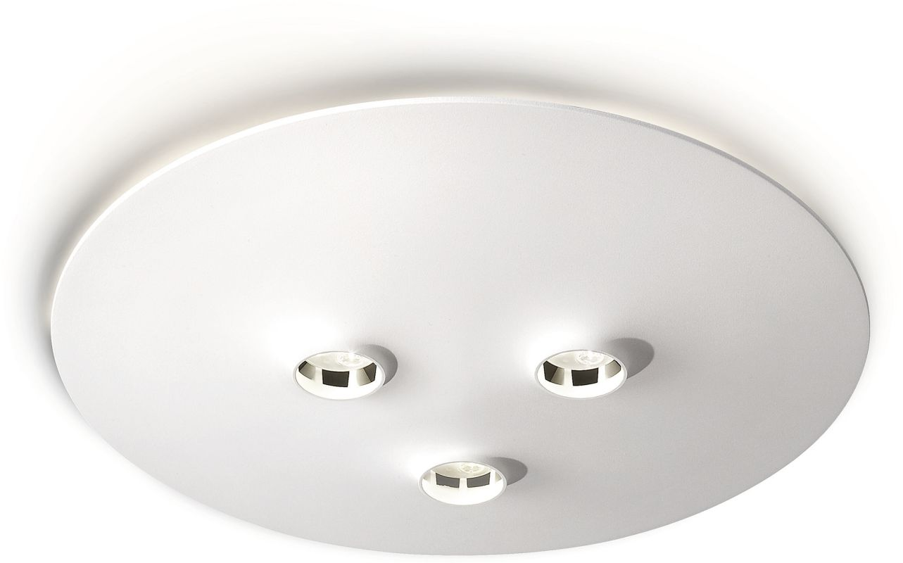 Philips 31601 3 Light LED Flush Mount Ceiling Fixture from the Ledino