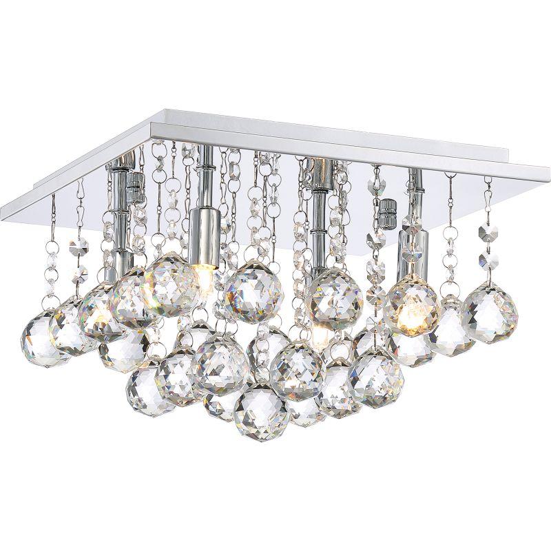 """Platinum BRX1611 Bordeaux 4 Light 12"""" Wide Flush Mount Ceiling Fixture"""
