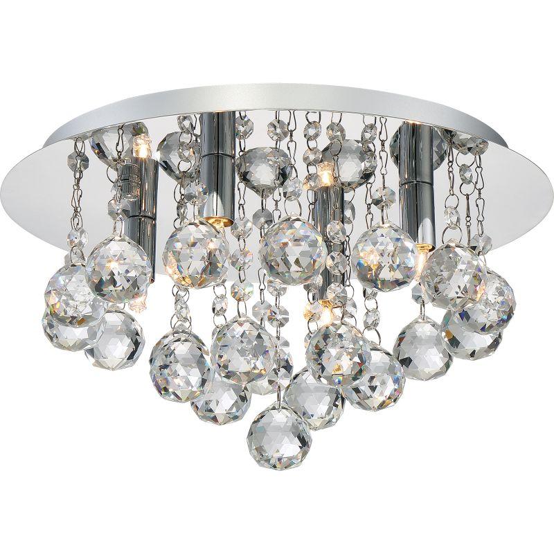 """Platinum BRX1614 Bordeaux 4 Light 14"""" Wide Flush Mount Ceiling Fixture"""