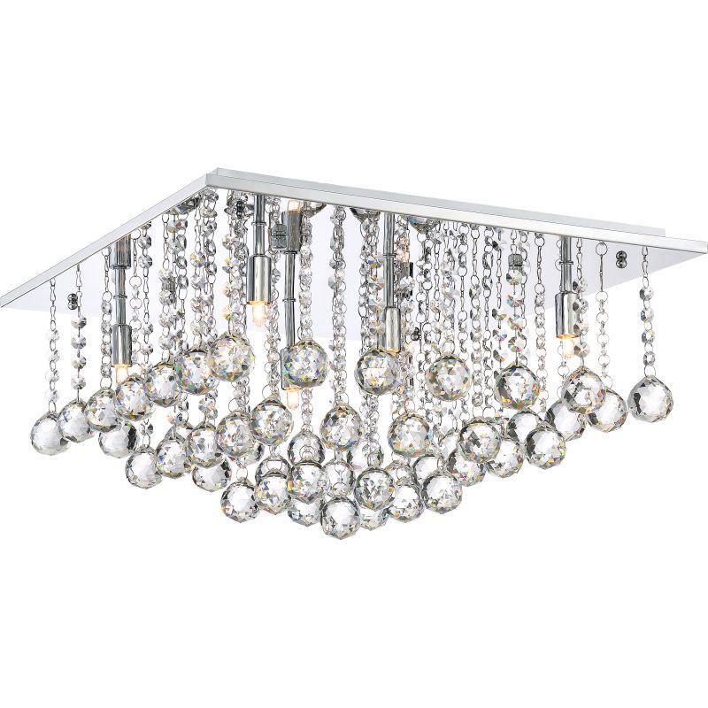 """Platinum BRX1620 Bordeaux 6 Light 20"""" Wide Flush Mount Ceiling Fixture"""