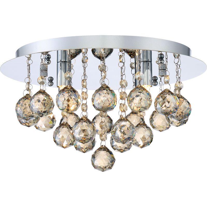 """Platinum BRXA1614 Bordeaux 4 Light 14"""" Wide Flush Mount Ceiling"""