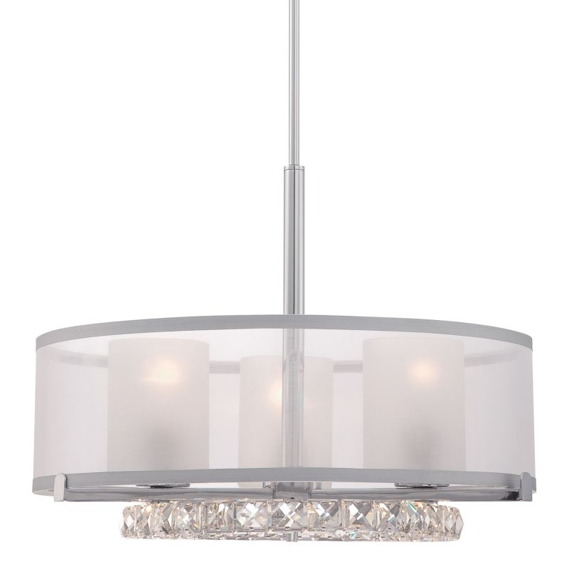 Platinum PCJL2820 Janelle 3 Light Pendant Polished Chrome Indoor