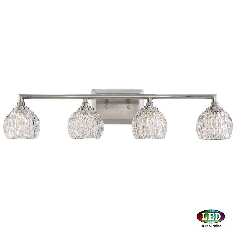 "Platinum PCSA8604LED Serena 4 Light 28"" Wide Bathroom Vanity Light Sale $259.99 ITEM#: 2846385 MODEL# :PCSA8604BNLED UPC#: 611728262320 :"