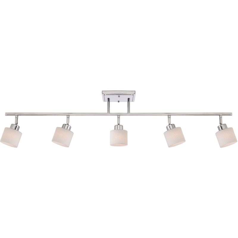 Quoizel PF1405C Polished Chrome Pacifica Contemporary / Modern 5 Light Fixed Track Light from the Pacifica Collection