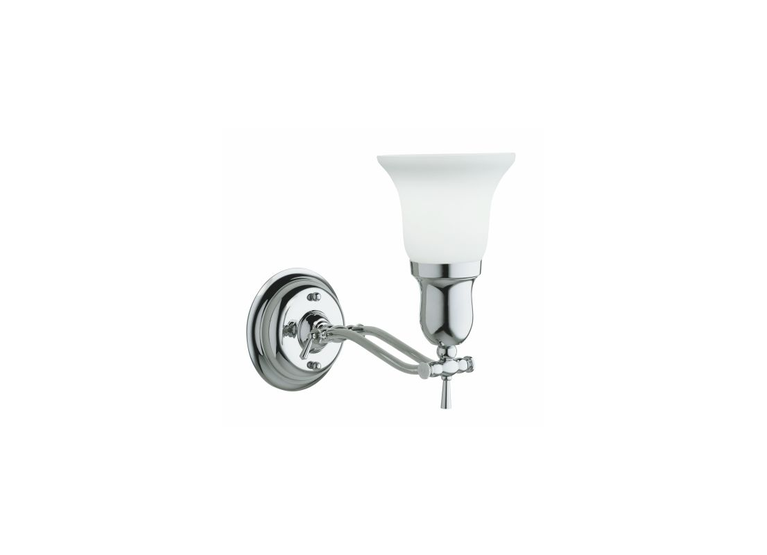 Robern MLLWFH Fairhaven Single Light Bathroom Sconce with Frosted