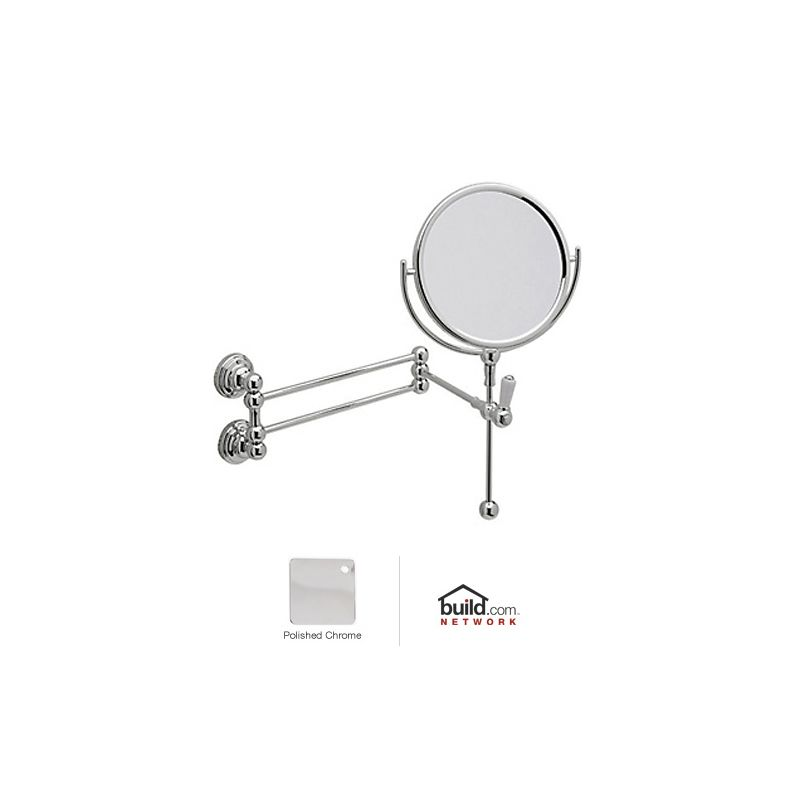 Rohl U.6918 Perrin and Rowe Wall Mounted Shaving Mirror Polished