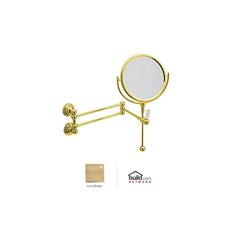 Rohl U.6918 Perrin and Rowe Wall Mounted Shaving Mirror Inca Brass