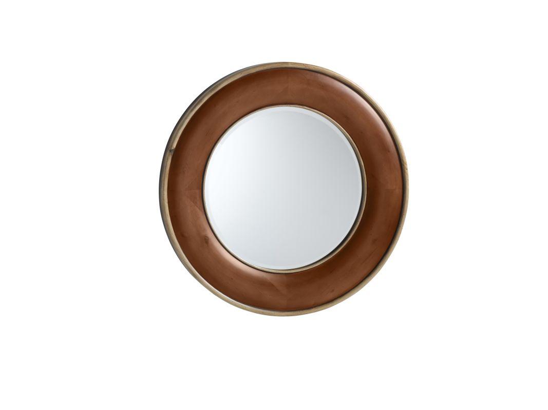 "RonBow 607634 Chardonnay 33"" Solid Hardwood Framed Circular Bathroom"