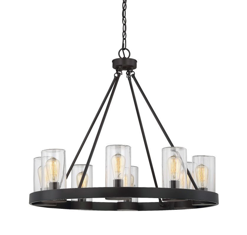 Savoy House 1-1130-8 Inman 8 Light Chandelier English Bronze Indoor