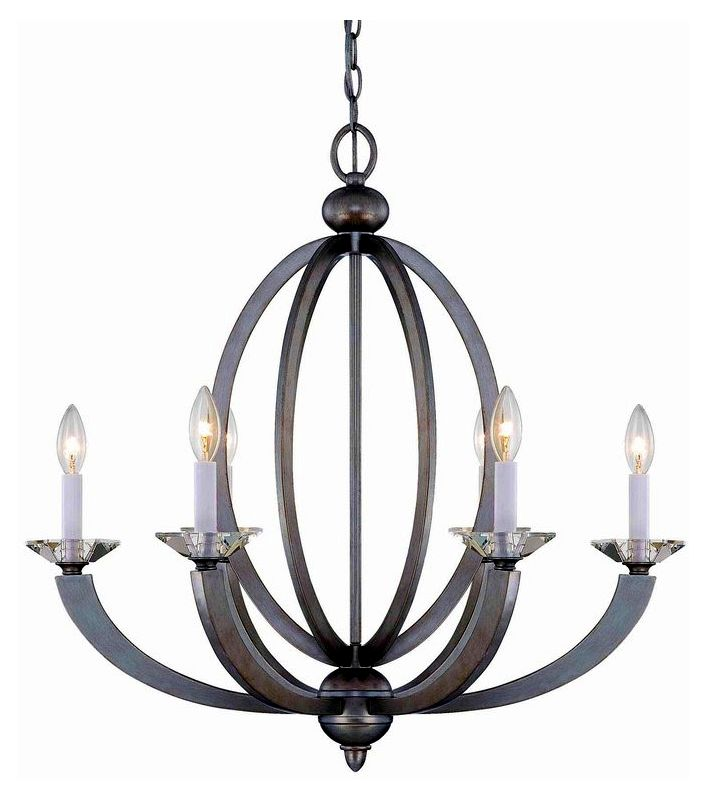 "Savoy House 1-1551-6 Forum 6 Light 26.75"" Wide 1 Tier Chandelier with"