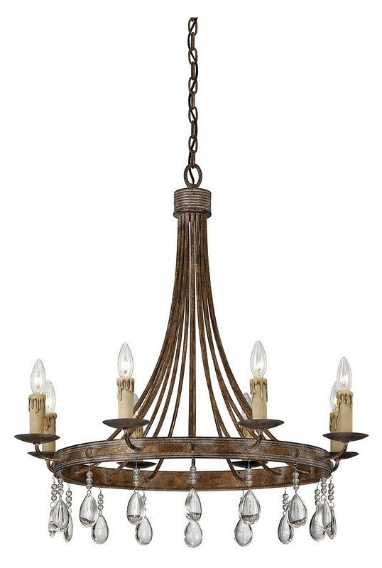 """Savoy House 1-201-8 Carlisle 8 Light 29.5"""" Wide 1 Tier Chandelier with"""