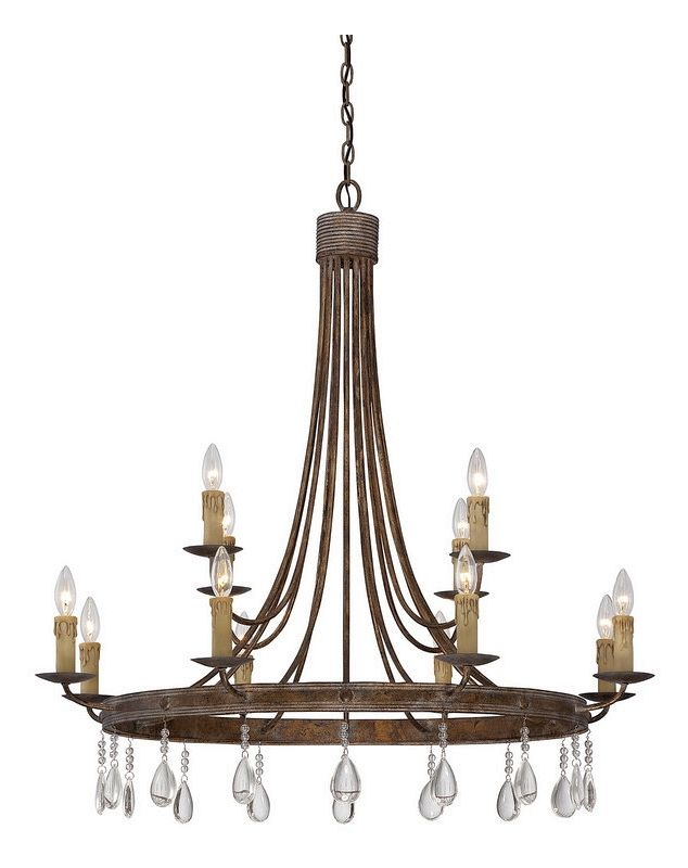 "Savoy House 1-202-12 Carlisle 12 Light 38.5"" Wide 2 Tier Chandelier"