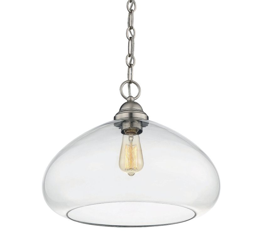 Savoy House 1-2070-1 Shane 1 Light Pendant Satin Nickel Indoor