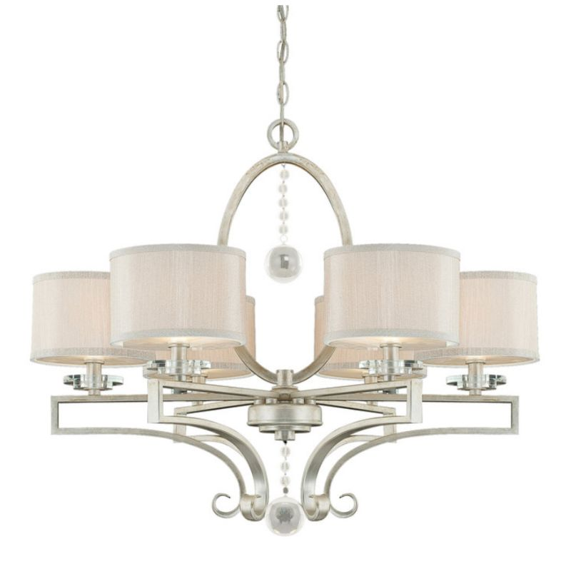 "Savoy House 1-250-6 Rosendal 6 Light 30"" Wide 1 Tier Chandelier with"