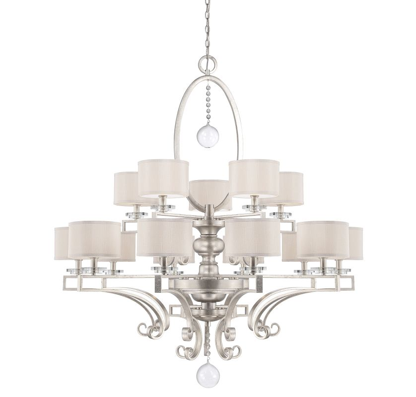 "Savoy House 1-254-15 Rosendal 15 Light 52"" Wide 2 Tier Chandelier with"