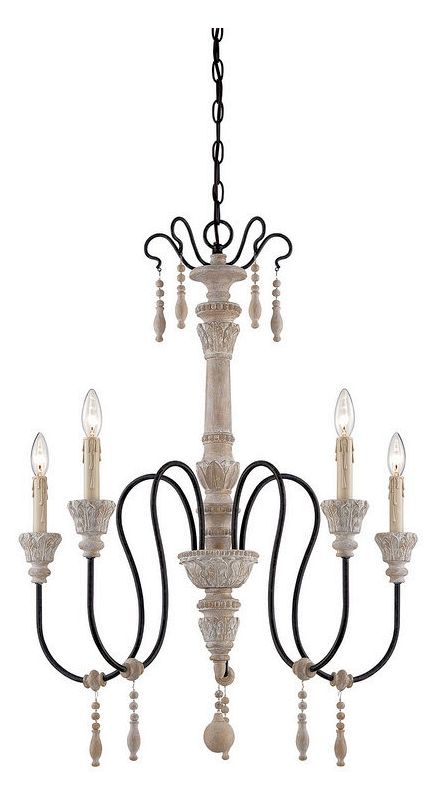 "Savoy House 1-290-5 Ashland 5 Light 28.5"" Wide 1 Tier Chandelier White"