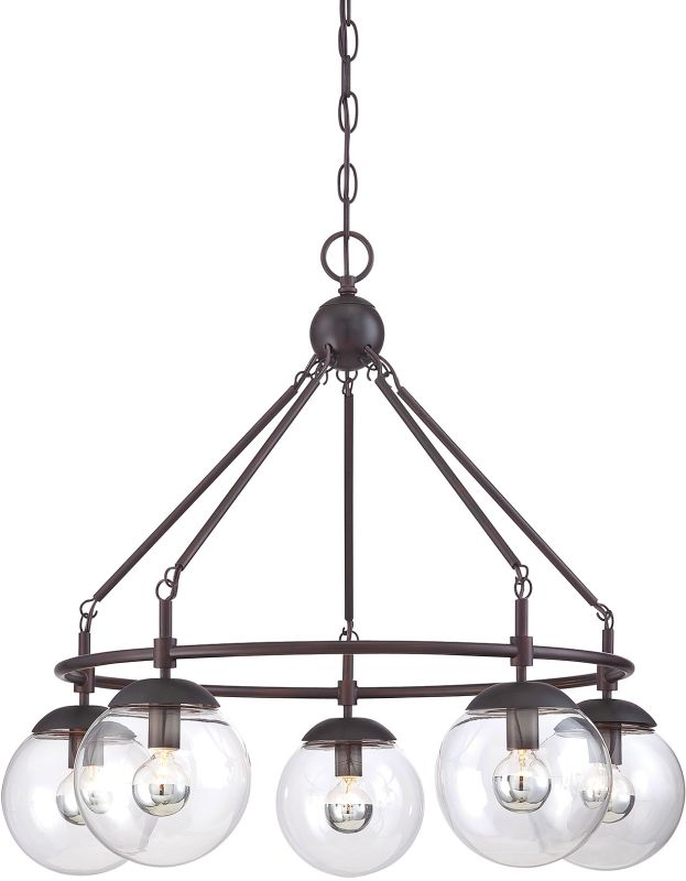 "Savoy House 1-350-5 Argo 5 Light 25"" Wide 1 Tier Chandelier English"
