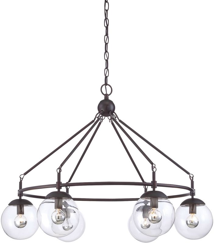 "Savoy House 1-351-6 Argo 6 Light 32"" Wide 1 Tier Chandelier English"