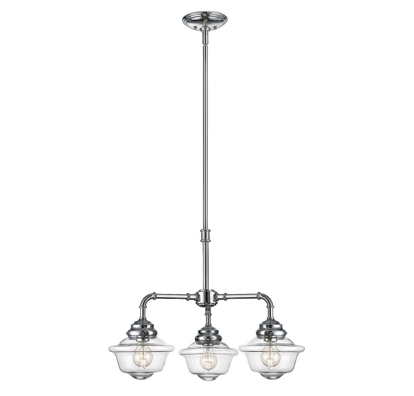 Savoy House 1-390-3 Fairfield 3 Light Chandelier Chrome Indoor