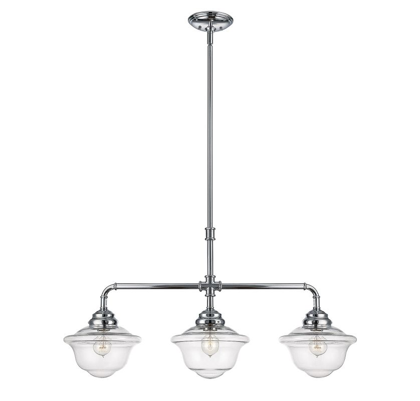 Savoy House 1-392-3 Fairfield 3 Light Chandelier Chrome Indoor