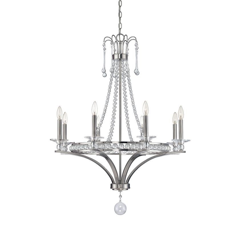 Savoy House 1-401-8 Alana 8 Light Chandelier Satin Nickel Indoor