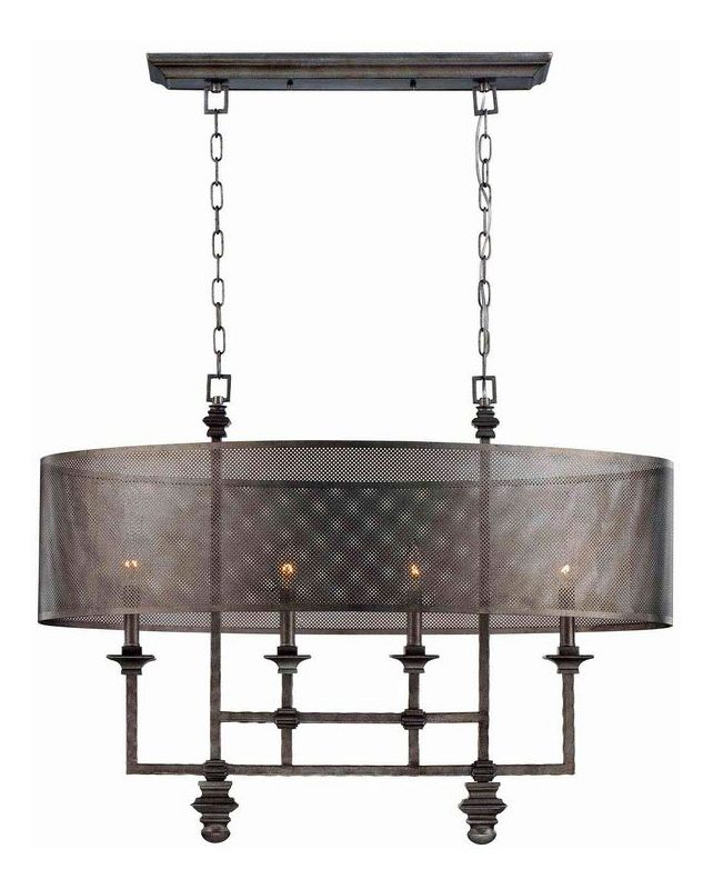 "Savoy House 1-4301-4 Structure 4 Light 20"" Wide 1 Tier Chandelier Aged"