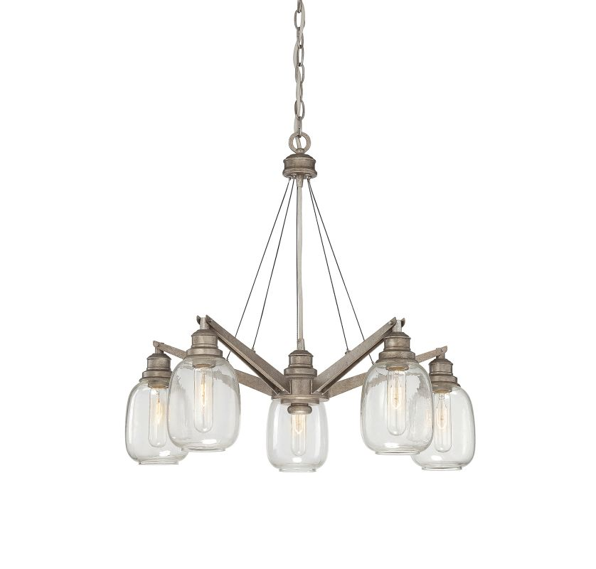 "Savoy House 1-4330-5 Orsay 5 Light 26"" Wide 1 Tier Chandelier"