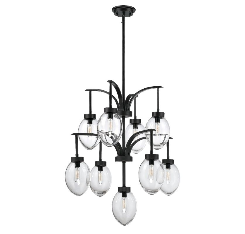 Savoy House 1-541-9 Ravenia 9 Light Chandelier English Bronze Indoor