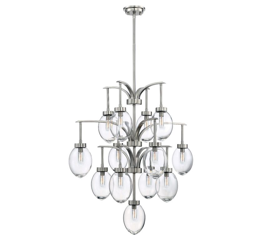 Savoy House 1-542-13 Ravenia 13 Light Chandelier Satin Nickel Indoor
